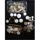 Quantity of pocket watch & wrist watch movements (spares / repairs)