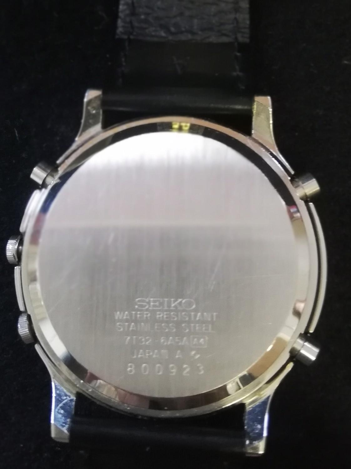 Seiko quatz alarm chronograph watch with papers and booklet 1993 - Image 3 of 3