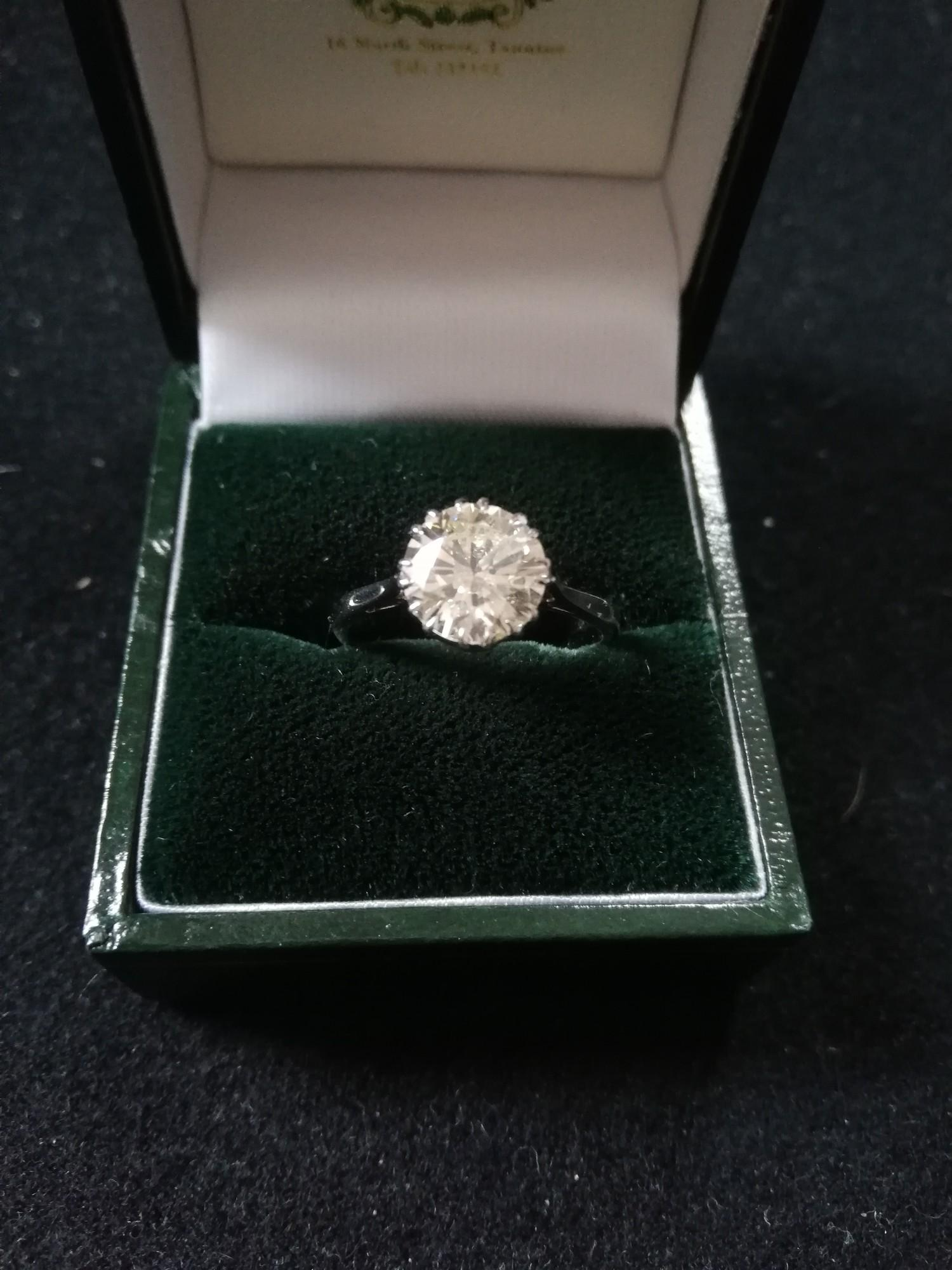 Diamond solitaire ring 2.37ct - Image 3 of 4