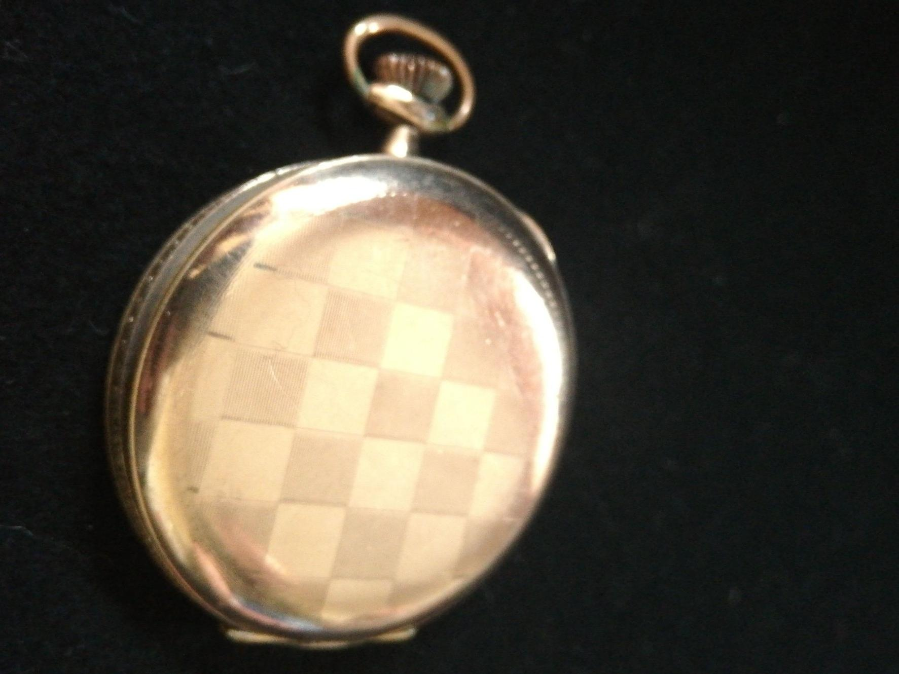 Gold plated German pocket watch by Wempe -a/f running order but lacking minute hand & glass - Image 3 of 3