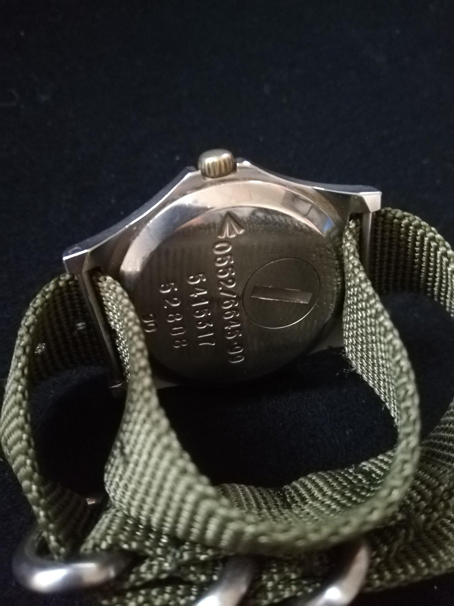 CWC (Cabot Watch Company) military quartz driven watch dated 99 to reverse - Image 2 of 2