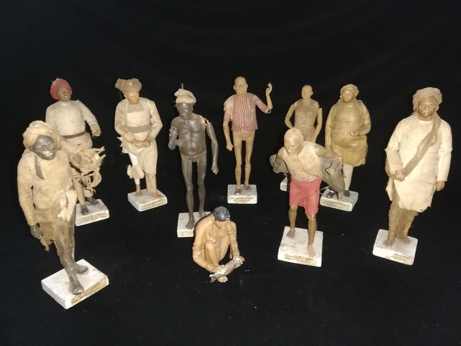 Lot 242 - 10 x clay / Poonah Indian characters displaying various professions & trades