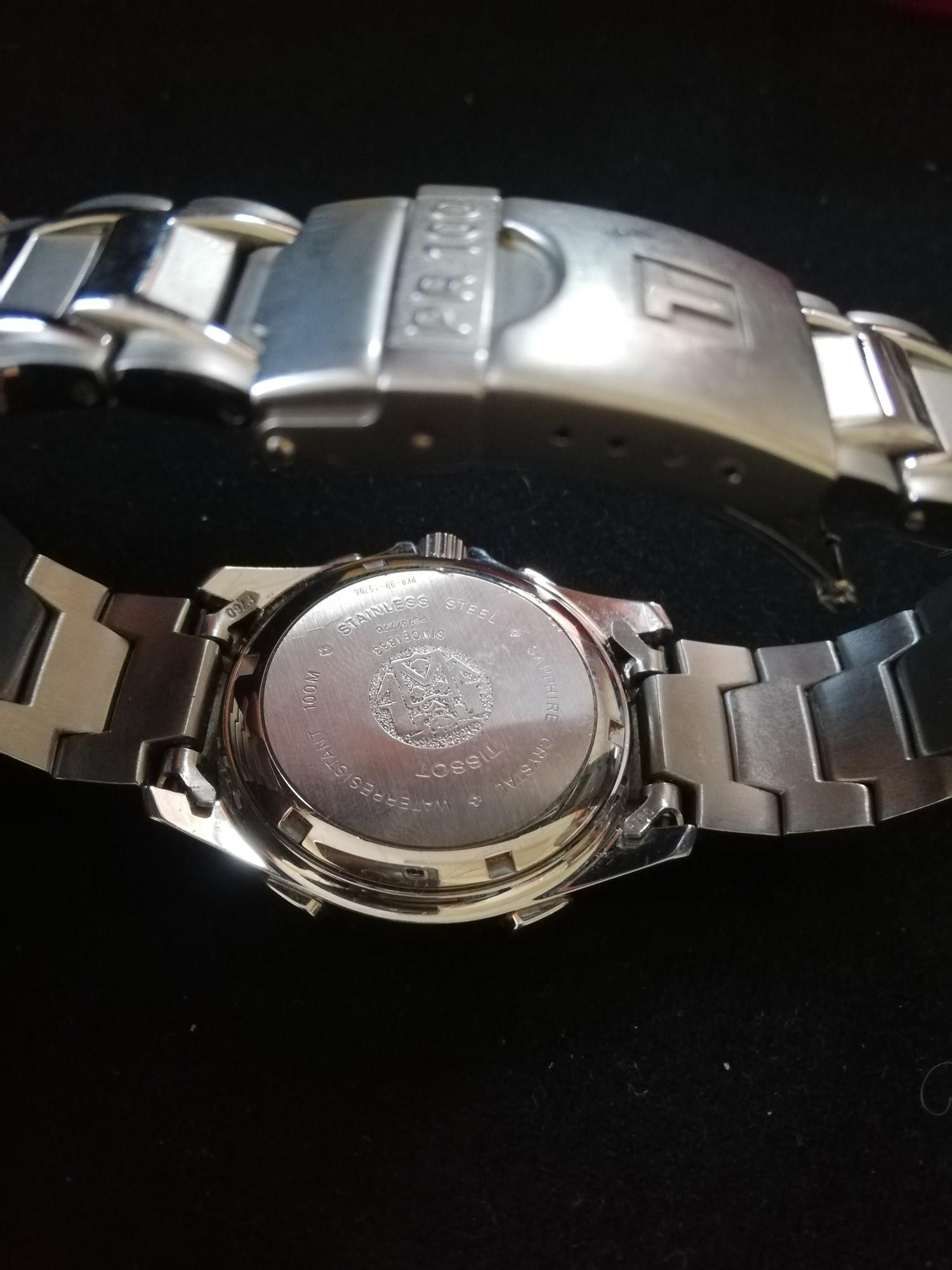 Tissot gents stainless steel PR100 chrono alarm wristwatch -in running order - Image 3 of 3