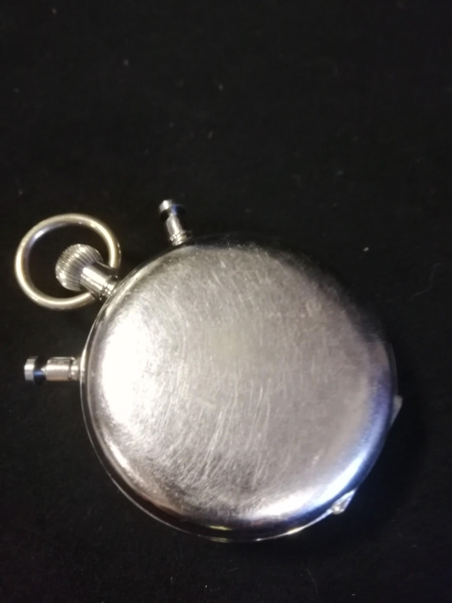 Omega split second stopwatch in chrome case - Image 2 of 2