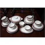 "Lot 316 - A Broadhurst ironstone china ""Lemon Grove"" pattern twenty-seven piece part dinner & coffee"