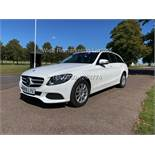 MERCEDES C CLASS C220d ESTATE SE EXECUTIVE (2016) **WHITE** 1 KEEPER FROM NEW