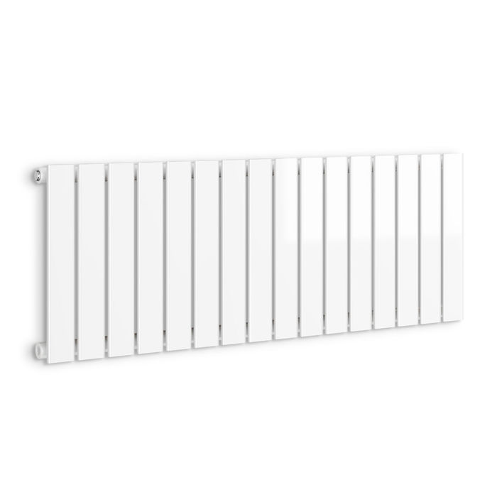 635x1200mm Gloss White Single Flat Panel Horizontal Radiator. RRP £392.99. Our entire range of... - Image 4 of 4