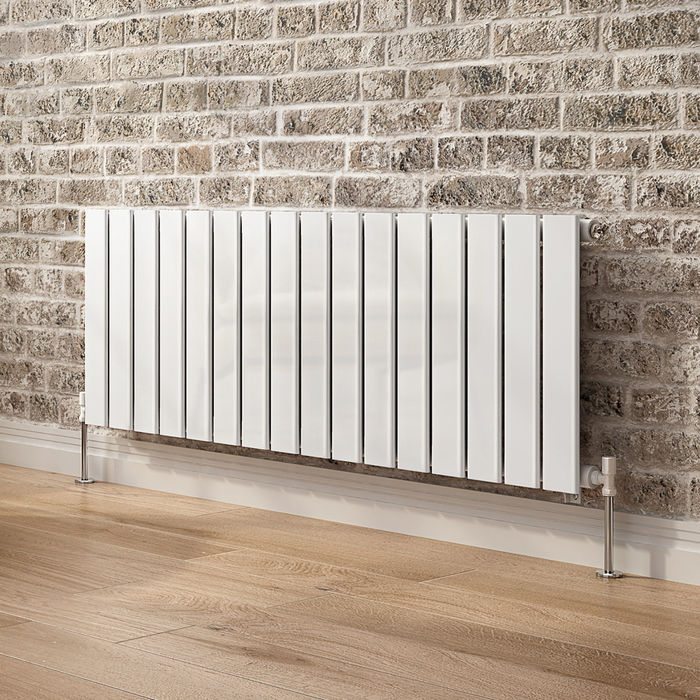 635x1200mm Gloss White Single Flat Panel Horizontal Radiator. RRP £392.99. Our entire range of... - Image 2 of 4