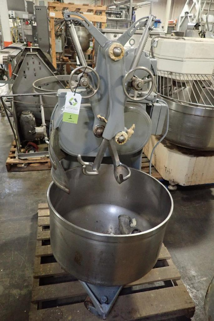 Lot 1 - Artofex double arm dough mixer, SS bowl, 27 in. dia x 18 in. deep **Rigging FEE: $50 **