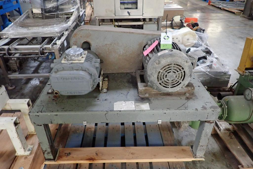 Lot 23 - Schwitzer rotary lobe blower, Model 156630, SN B2879-03, Duraflo rotary lobe blower Model 4056VT, SN