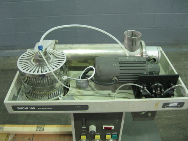Buchi lab spray dryer, glass chamber, cyclone and dust collector, with nozzle spray atomizer - Image 6 of 12