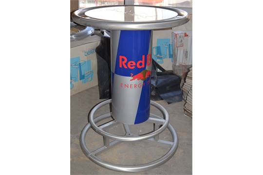 1 x genuine red bull round bar table rare table from red bull 1 x genuine red bull round bar table rare table from red bull perfect for pubs bars or garden watchthetrailerfo