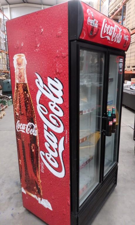 Lot 438 1 X Oversized 2 Door Coca Cola Merchandiser Refrigerator