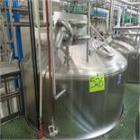 Feldmeier S.S. Jacketed Tank Approx. 3,900 Gal. Bottom Cone w/ SEW Drive Agitator Bottom Sweep