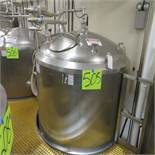 APV Approx. 1400 Gal. S.S. Insulated, 316 Storage Tank w/ Level Sensor Cone Bottom (No Piping); S/