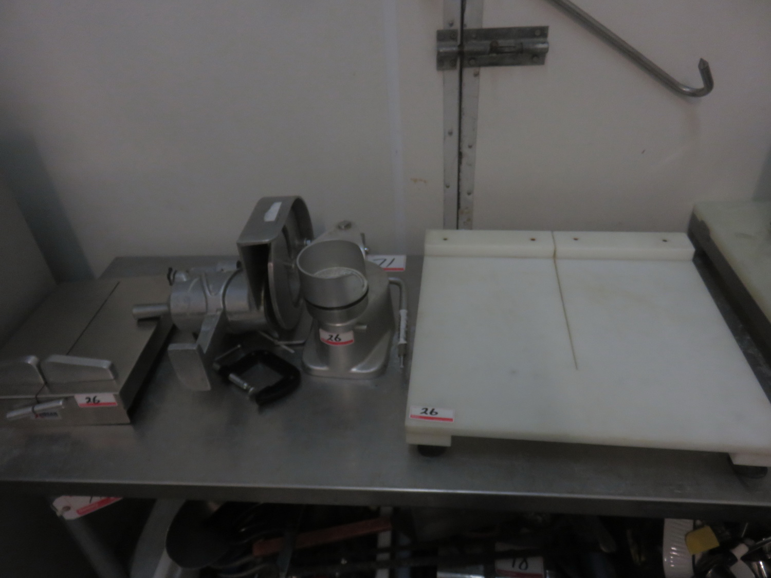 LOT - CHEESE CUTTER, PATTY MAKER, & HAND SLICER - Image 3 of 3