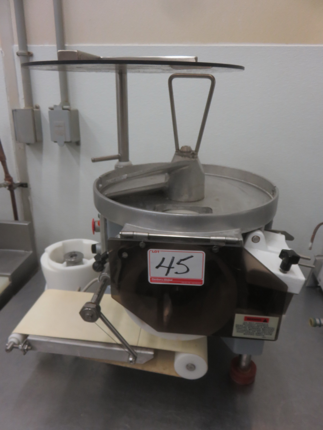 ABM F2000 AUTOMATIC PATTY FORMER / BURGER MACHINE (115V) (MISSING TOP CYLINDER RING)
