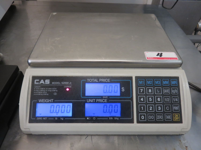 "CAS S-2000JR 30LB 9"" X 12"" DIGITAL PRICE COMPUTING SCALE"