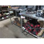"UNITS - STAINLESS 19"" & 24"" X 34"" X 4' PREP TABLES (IN SHOWROOM)"