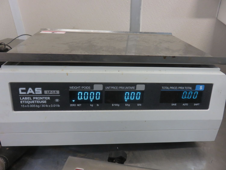 "CAS LPI-6 15KG 10"" X 15"" DIGITAL PRICE COMPUTING SCALE - Image 2 of 2"