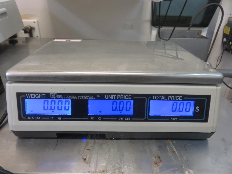 "CAS S-2000JR 30LB 9"" X 12"" DIGITAL PRICE COMPUTING SCALE - Image 2 of 2"