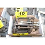 (5) ASSORTED C-CLAMPS