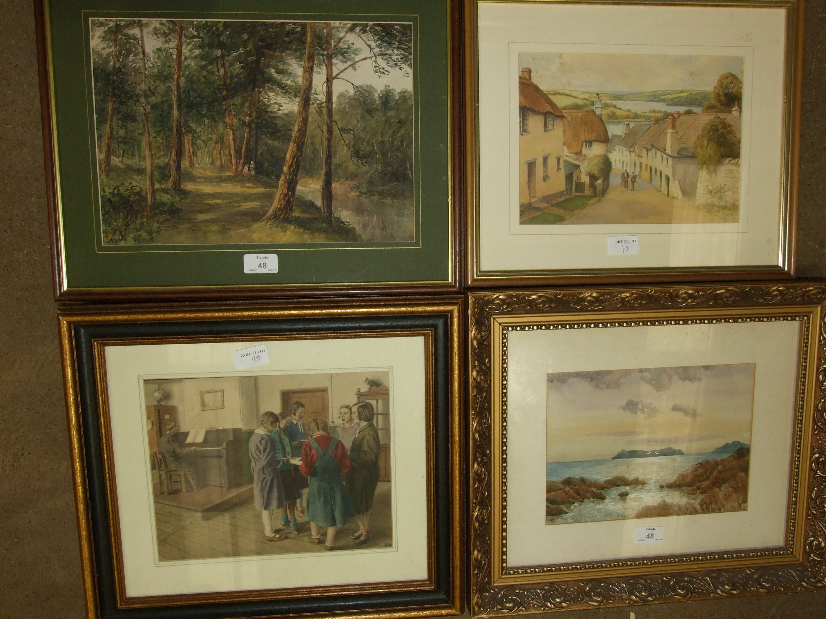 Lot 48 - A collection of mainly 20th watercolours, including M Hislop, The Island of Mull, off Scotland, (