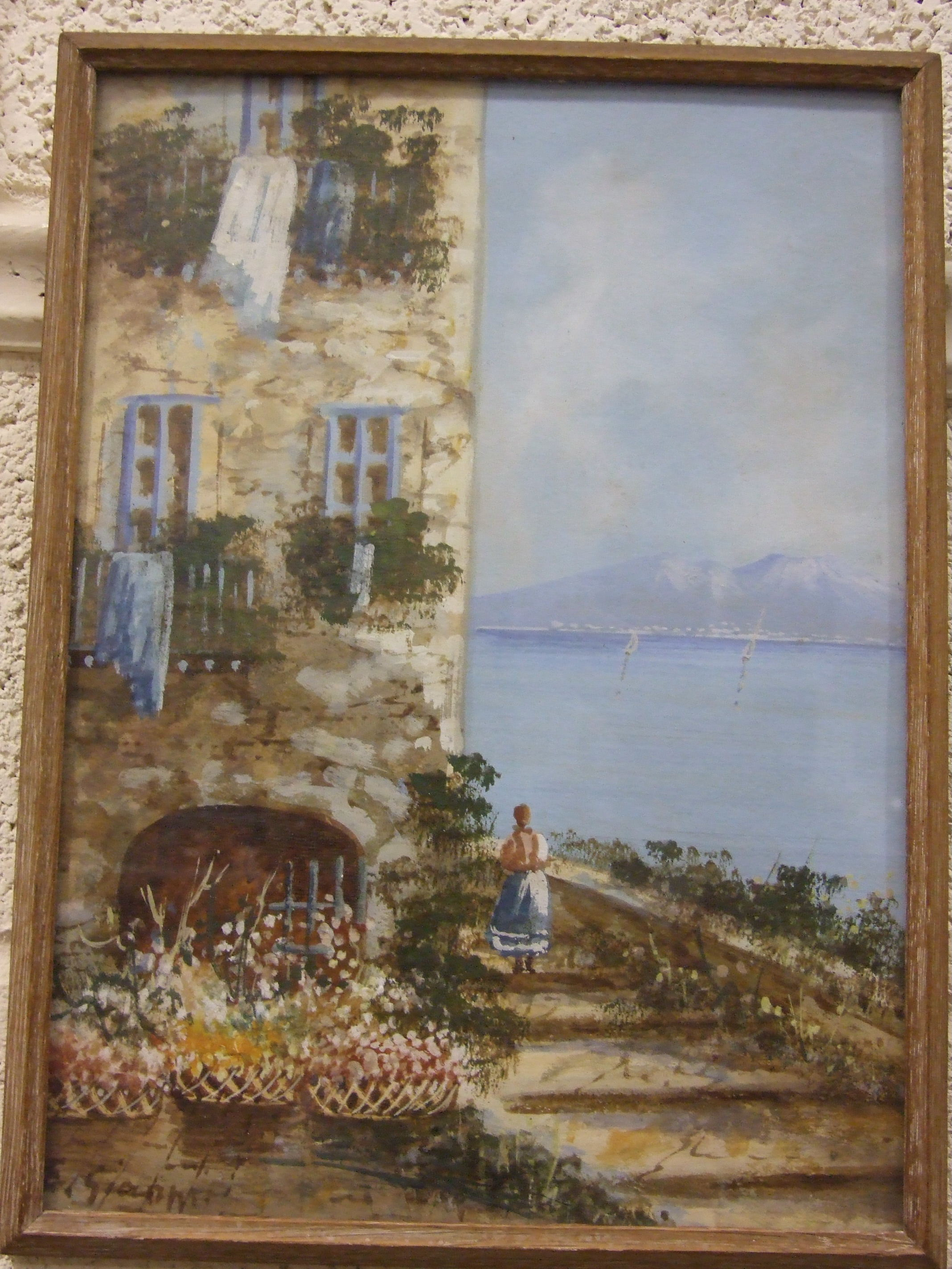 Lot 46 - E Gianni, Bay of Naples, signed gouache, 32 x 23cm and a companion, a pair, together with two