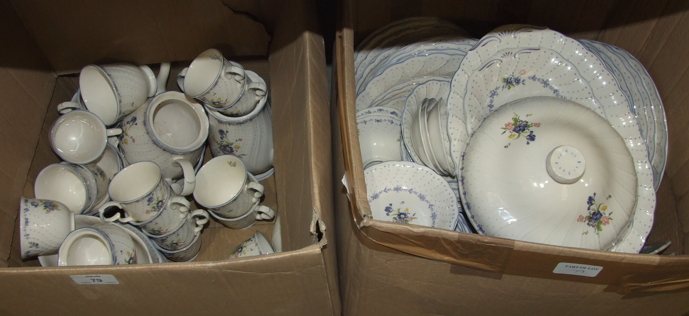 Lot 99 - Approximately seventy pieces of Royal Doulton 'Charade' tea, coffee and dinner ware and a large