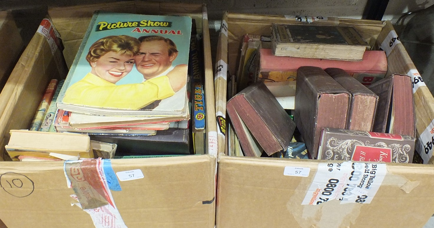 Lot 57 - A quantity of mainly children's books and annuals.
