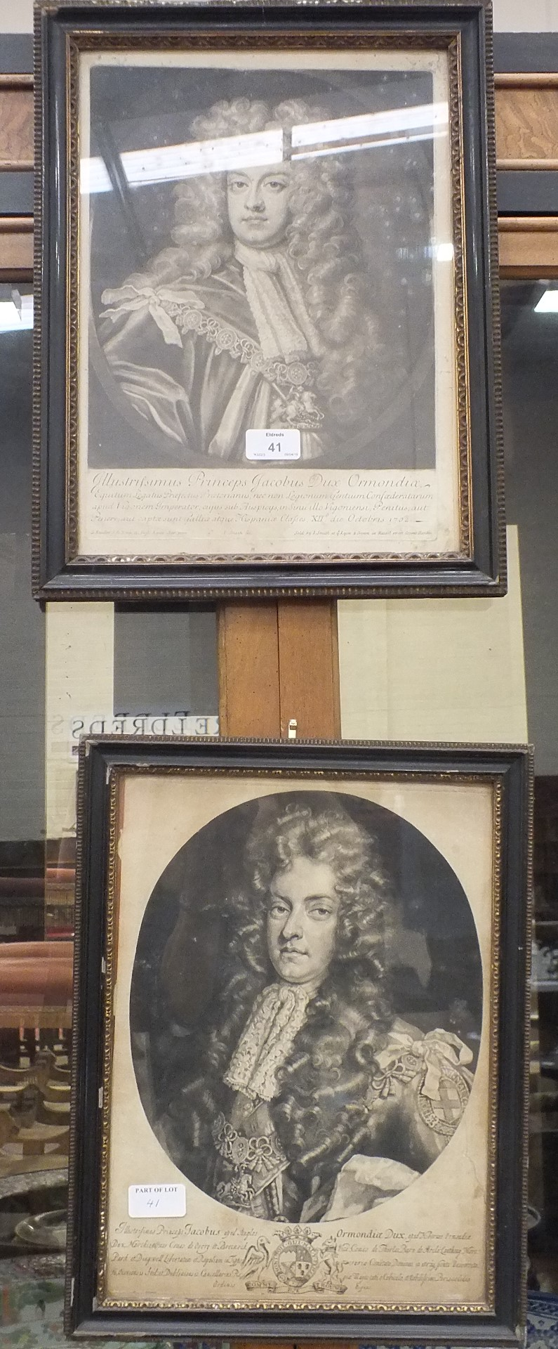 Lot 41 - After P Kneller, James, Duke of Ormond, a framed engraving and other engravings.
