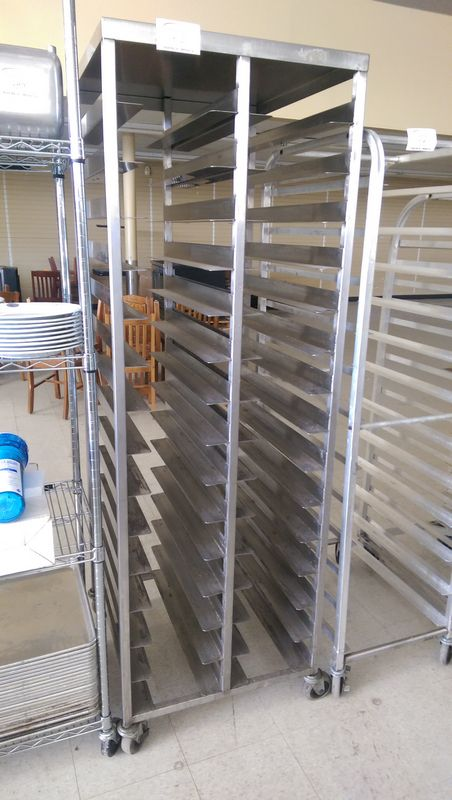 Lot 52 - Stainless Steel Tray Rack