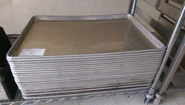 Lot 50 - 24 Full Sized Aluminum Baking Sheets