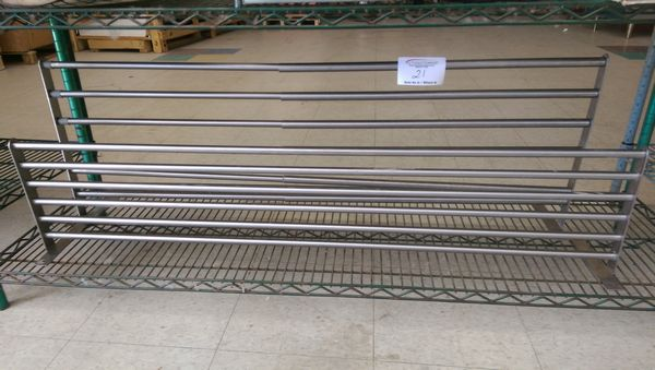 """Lot 21 - 2 Stainless Steel 48"""" Wall Shelves"""