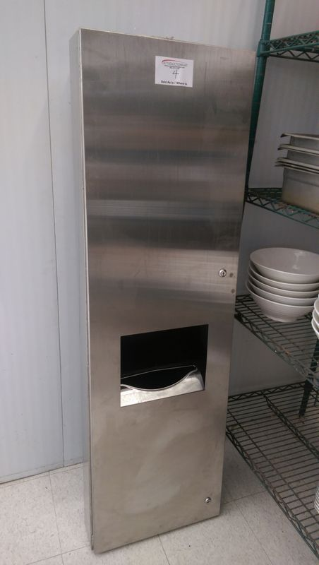 Lot 4 - Stainless Steel Towel Dispensing Cabinet