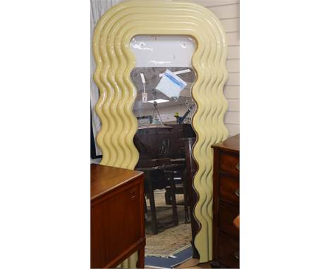 An Ettore Sottsass Ultrafragola wall mirror, 1970s production  H.195cm