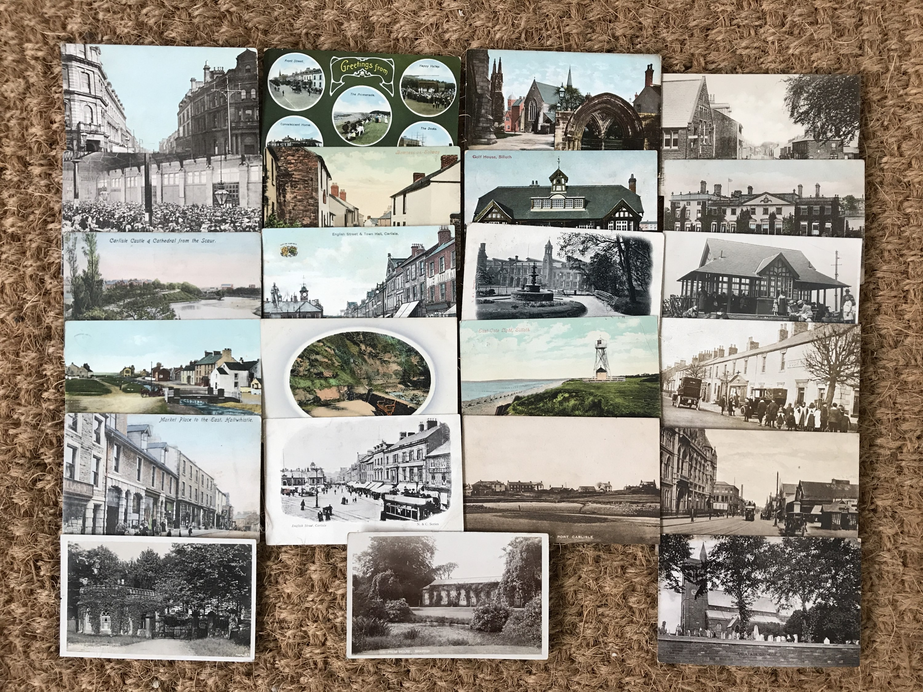 Lot 48 - A group of early 20th Century photographic postcards depicting Carlisle, Cumbria and Gilsland /