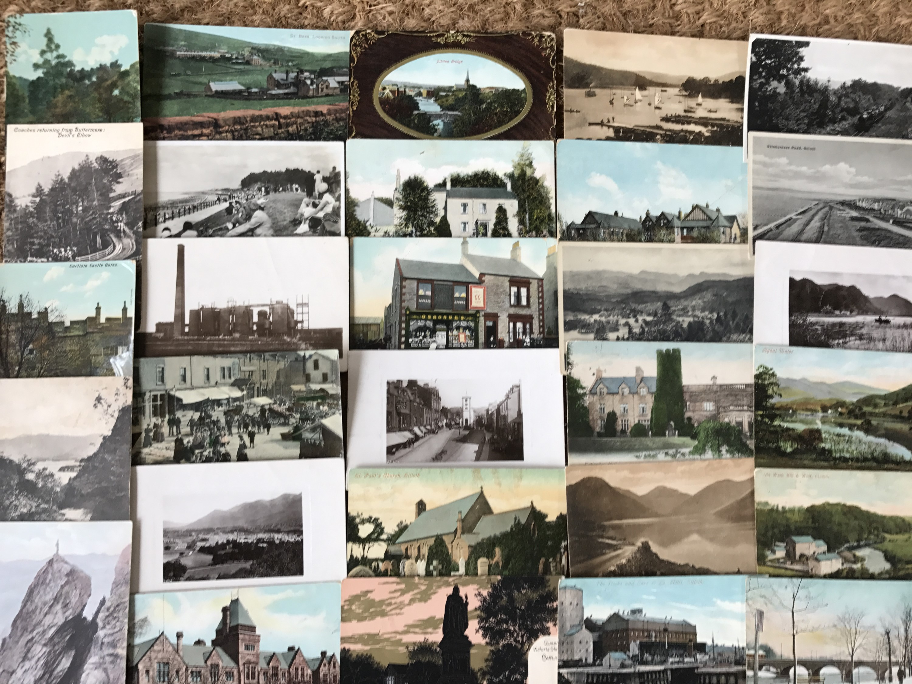 Lot 49 - A quantity of early 20th Century postcards depicting Carlisle, Cumbrian and Lake District views, (
