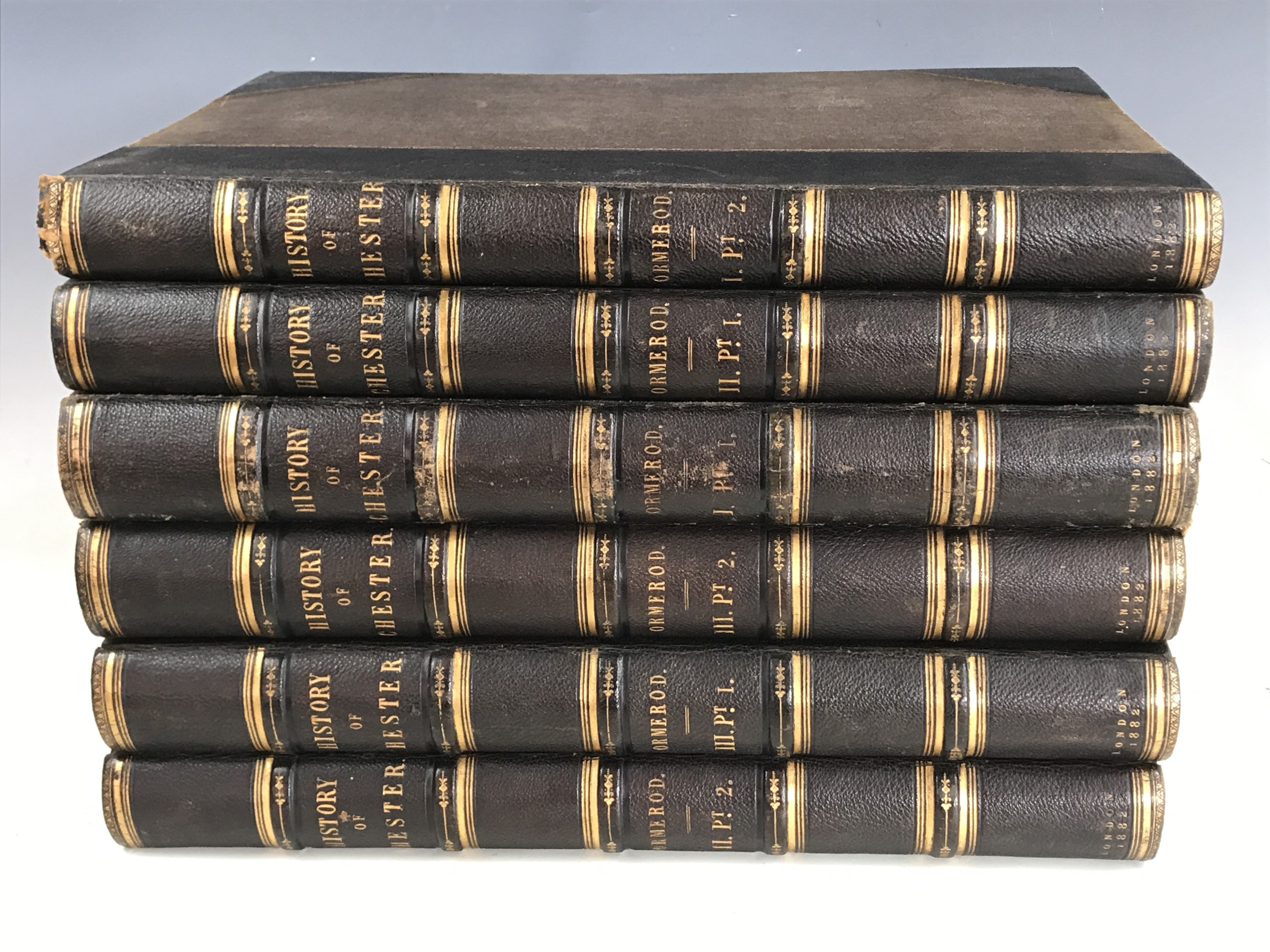 Lot 33 - George Ormerod, The History of the County Palatine and City of Chester; Compiled from Original