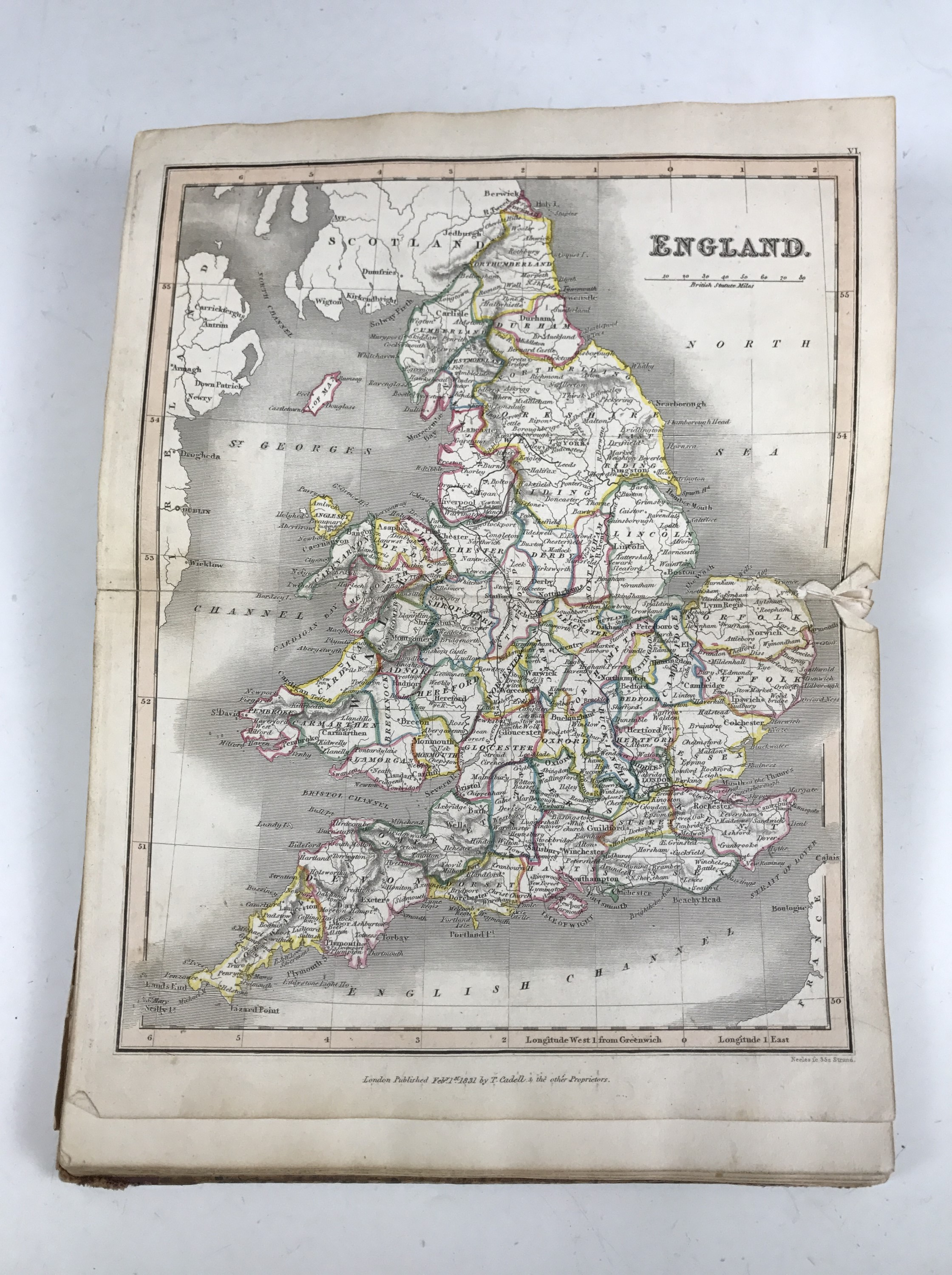 Lot 37 - Guthrie, William, Guthrie's Atlas of Modern Geography; Containing Thirty-One Maps with a Complete