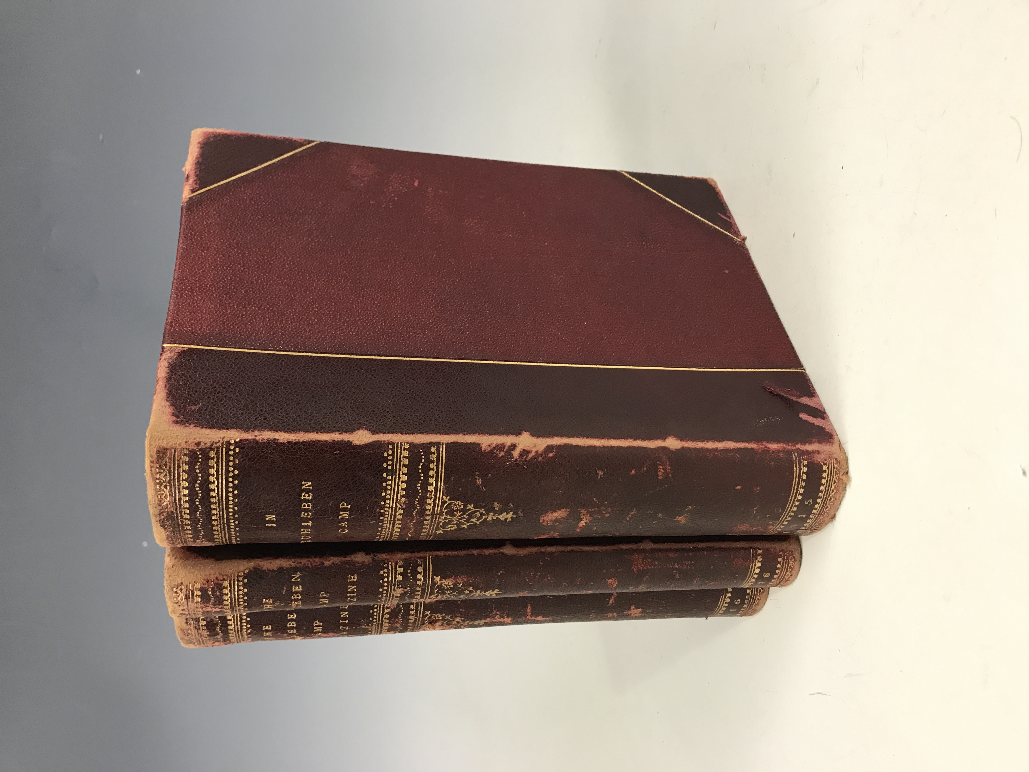 Lot 35 - Three bound runs of the Great War Prisoner of War / Internment Cap journal In Ruhleben Camp, 1915 to