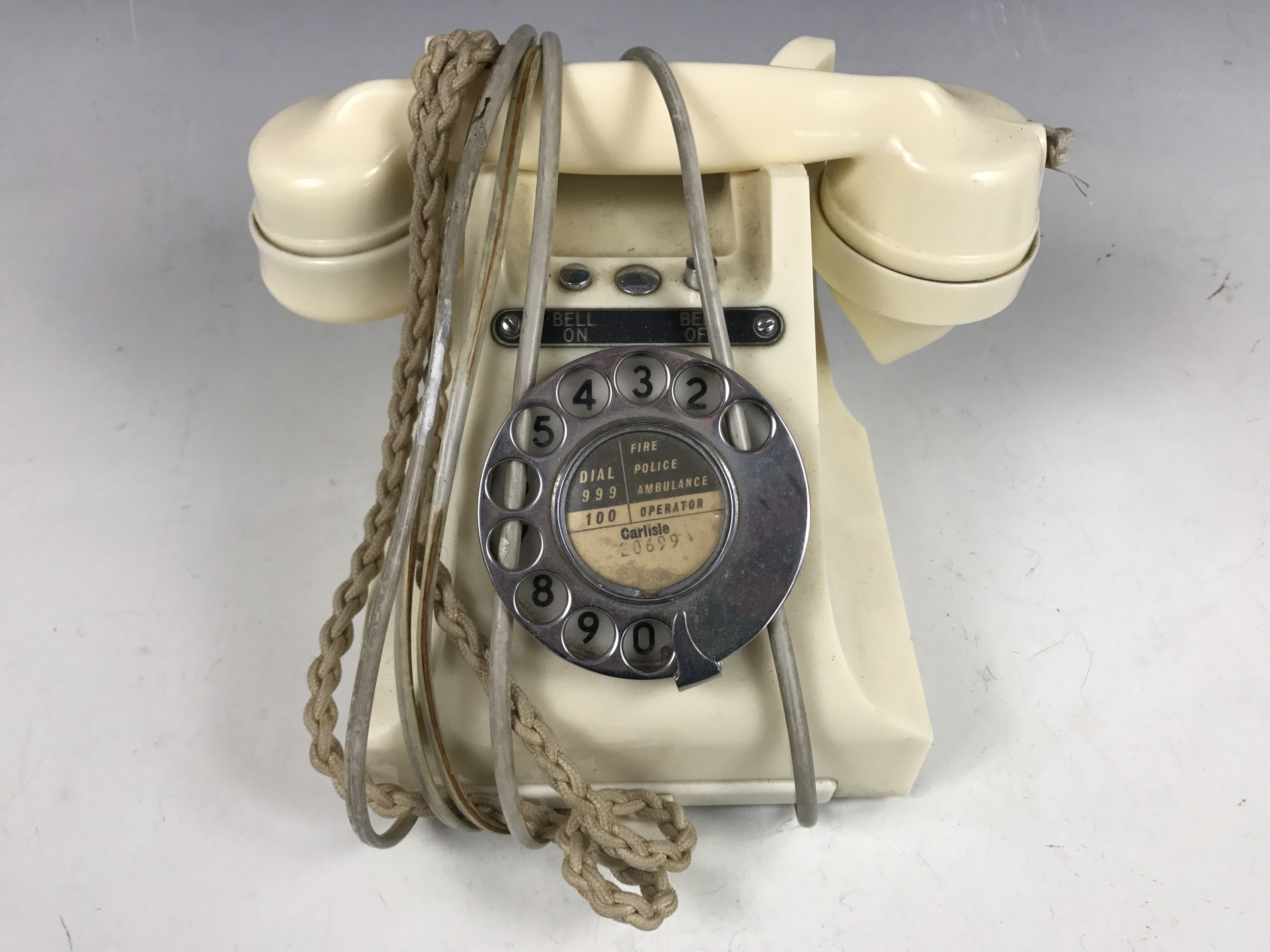 "Lot 27 - A GPO No 328 telephone in ""ivory"", circa 1930s"