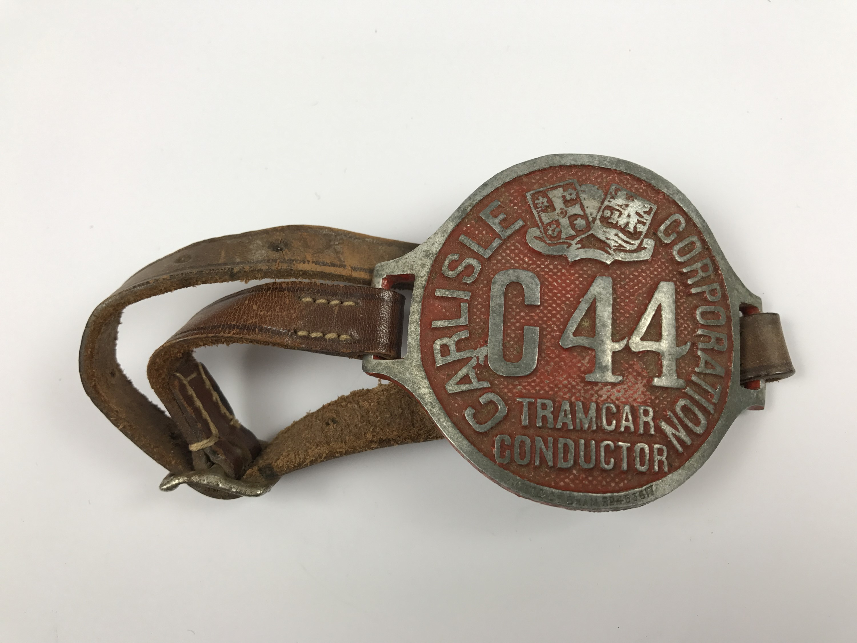 Lot 17 - A Carlisle Corporation Tram car Conductor's arm badge