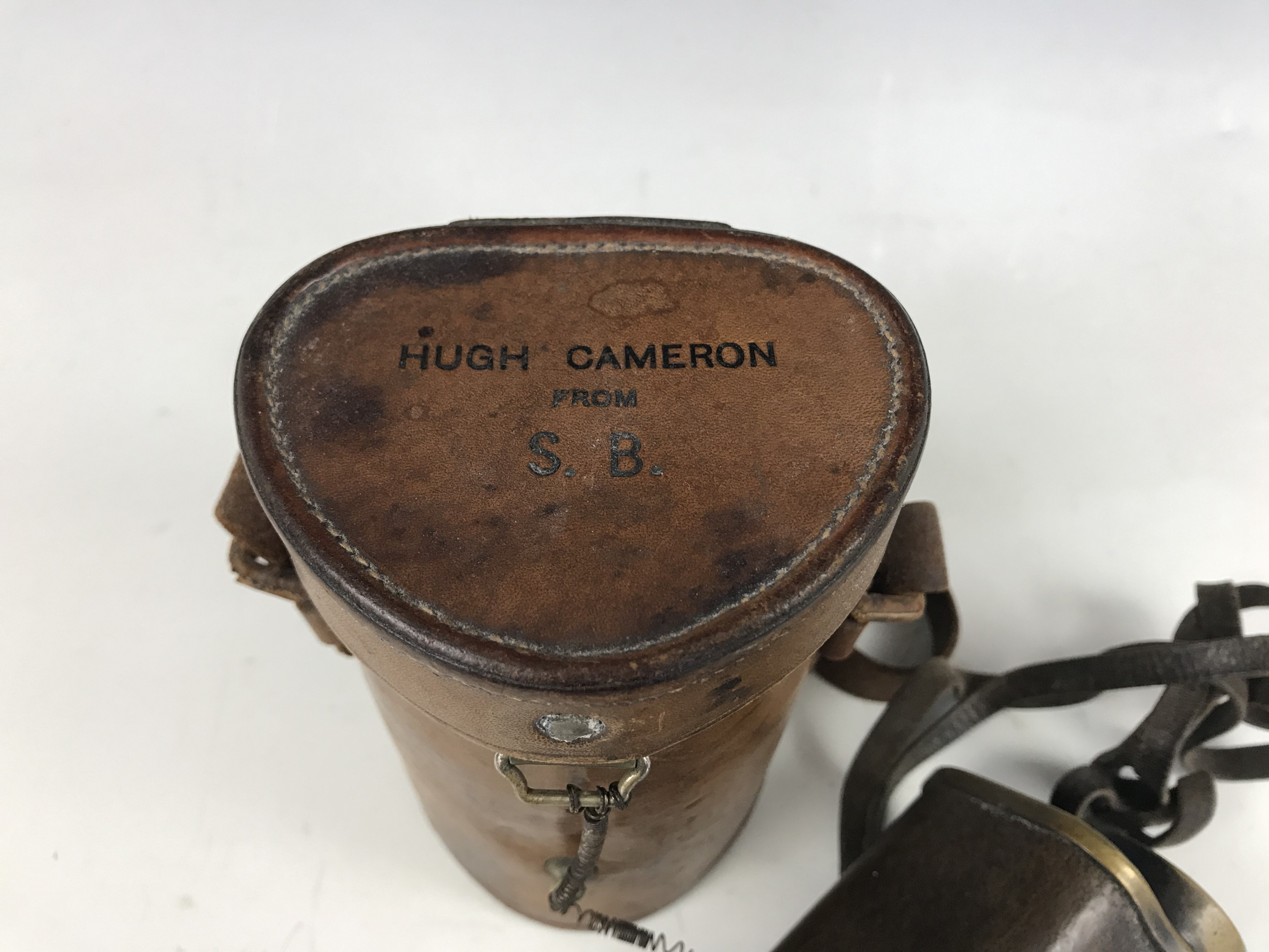 Lot 30 - An early 20th Century Zeiss monocular in leather case