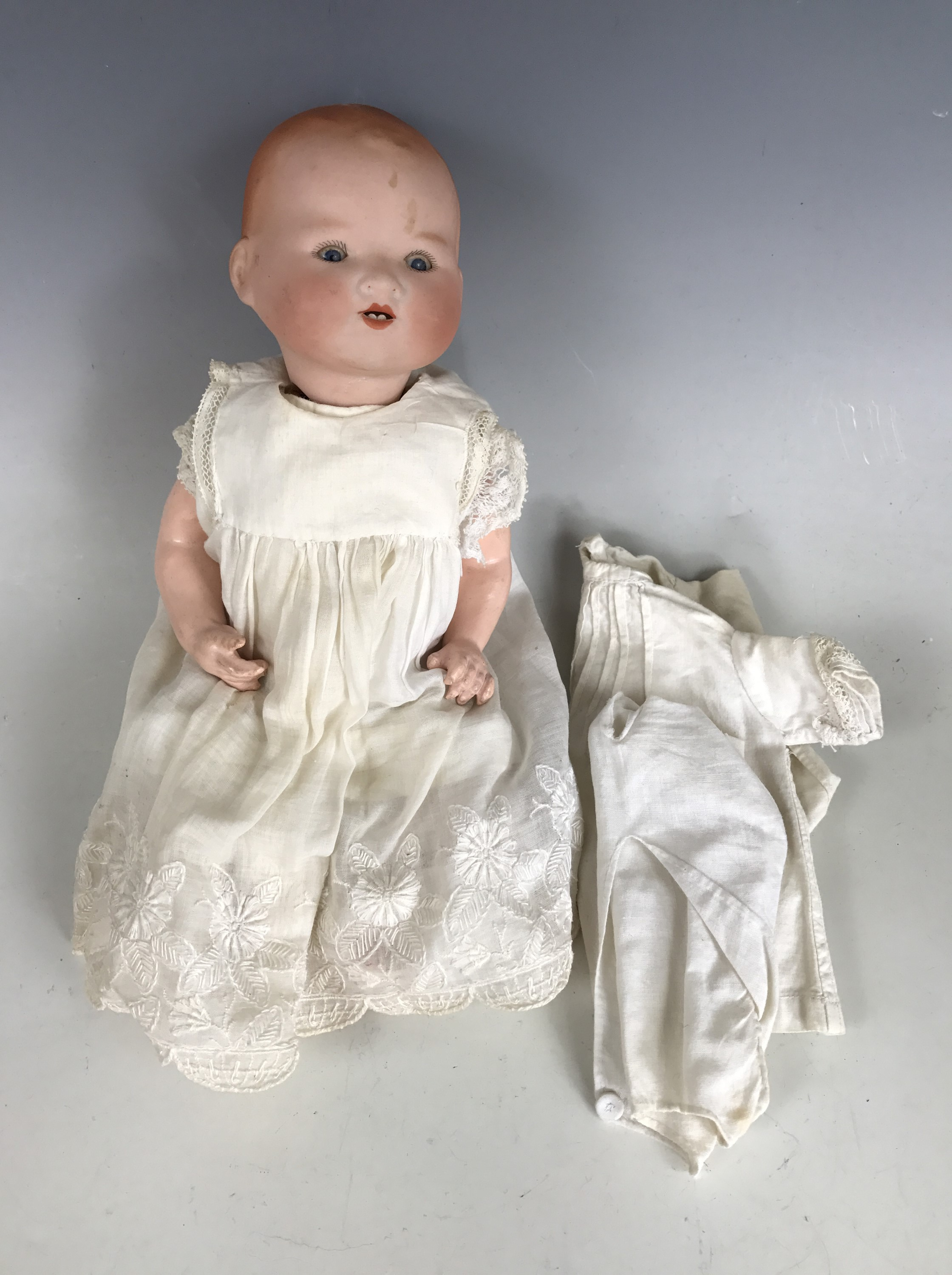 Lot 54 - An Armand Marseille 'My Dream' baby doll, the bisque head modelled with open mouth, two lower