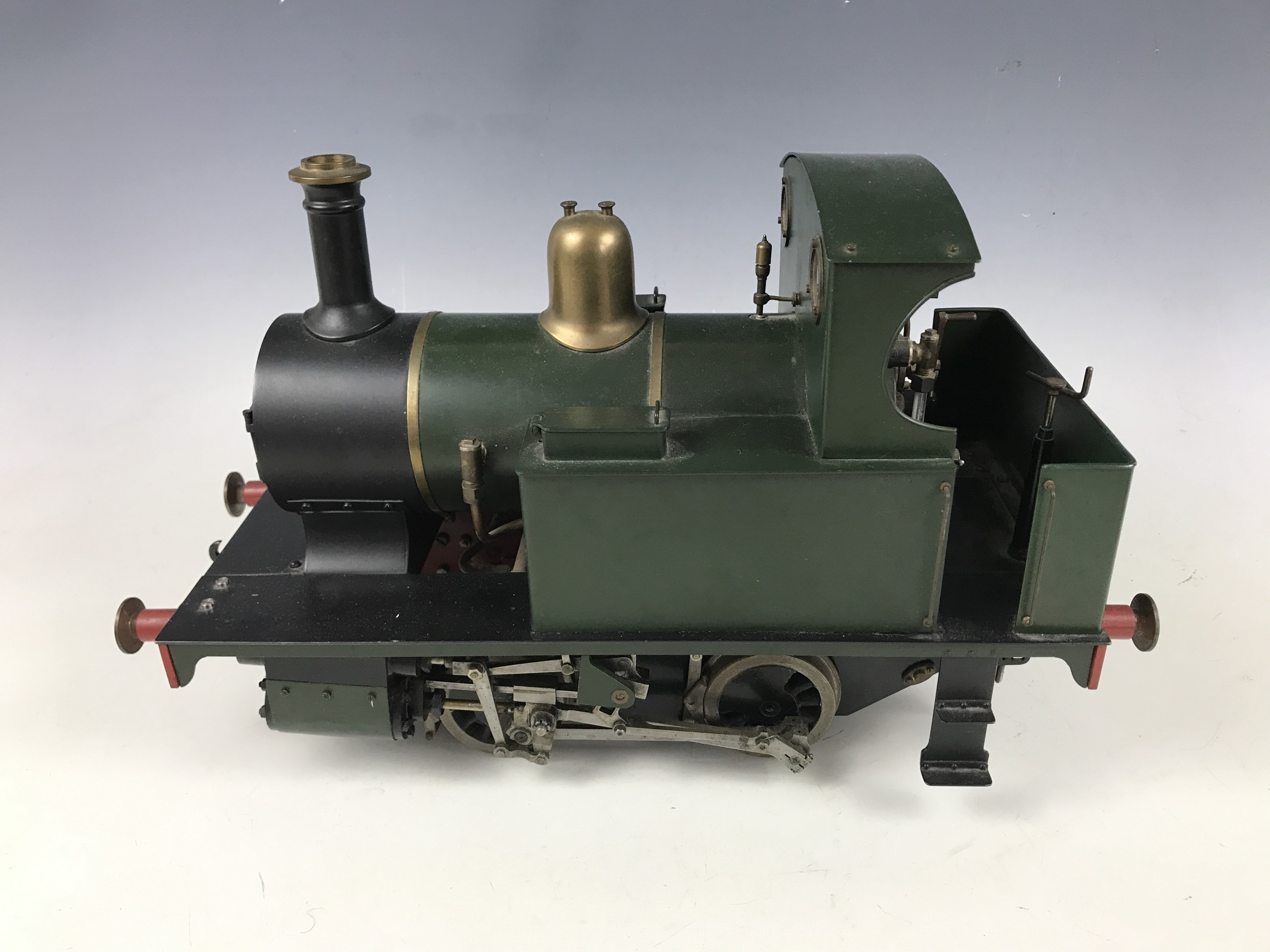 "Lot 52 - A live steam 3 ½ inch gauge model railway locomotive ""Titch"", together with a Northern Association"