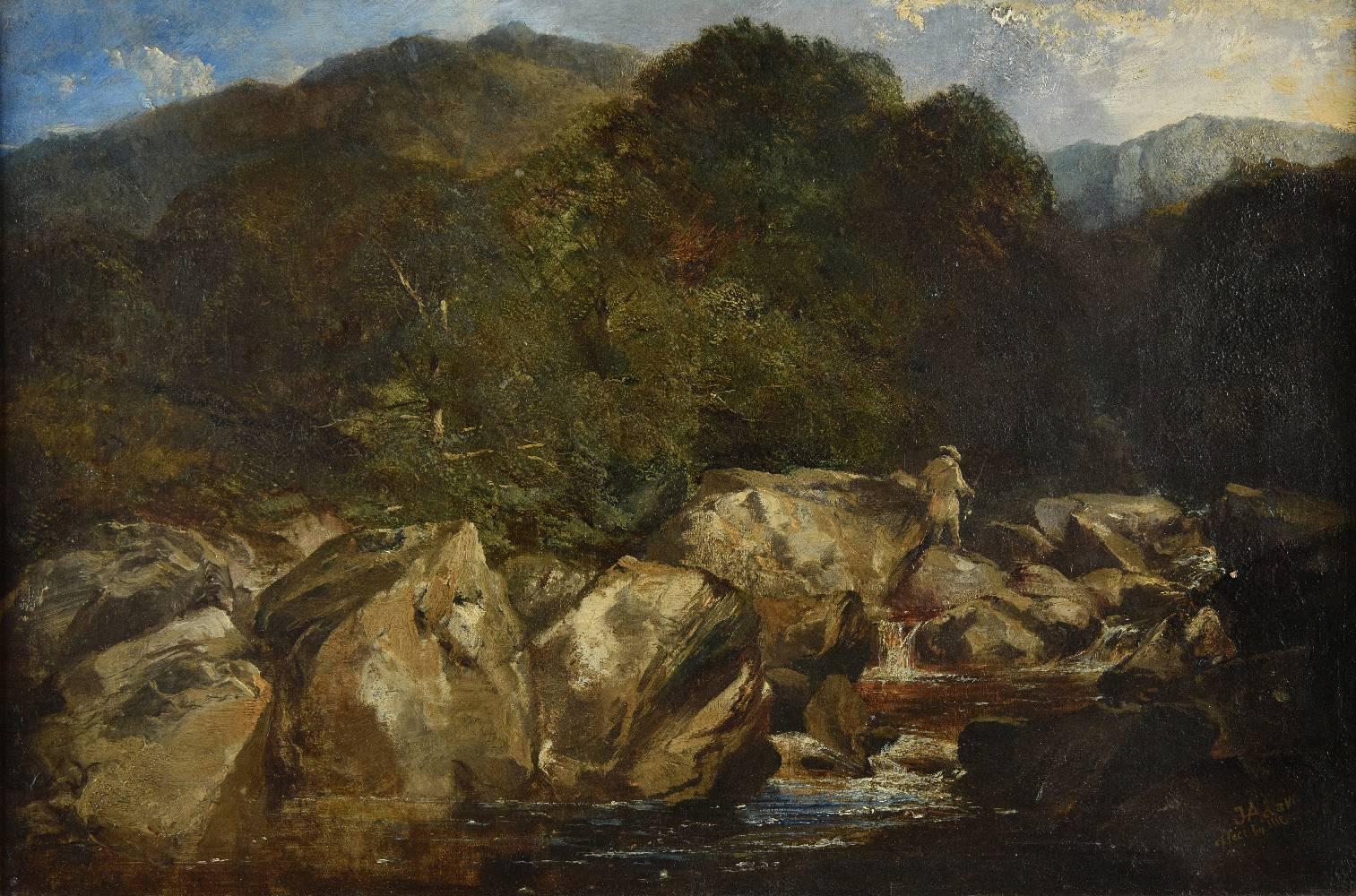 Lot 25 - *Adam (Joseph Denovan, 1842-1896 & Niemann, Edmund John, 1813-1876). Fisherman in the Highlands,