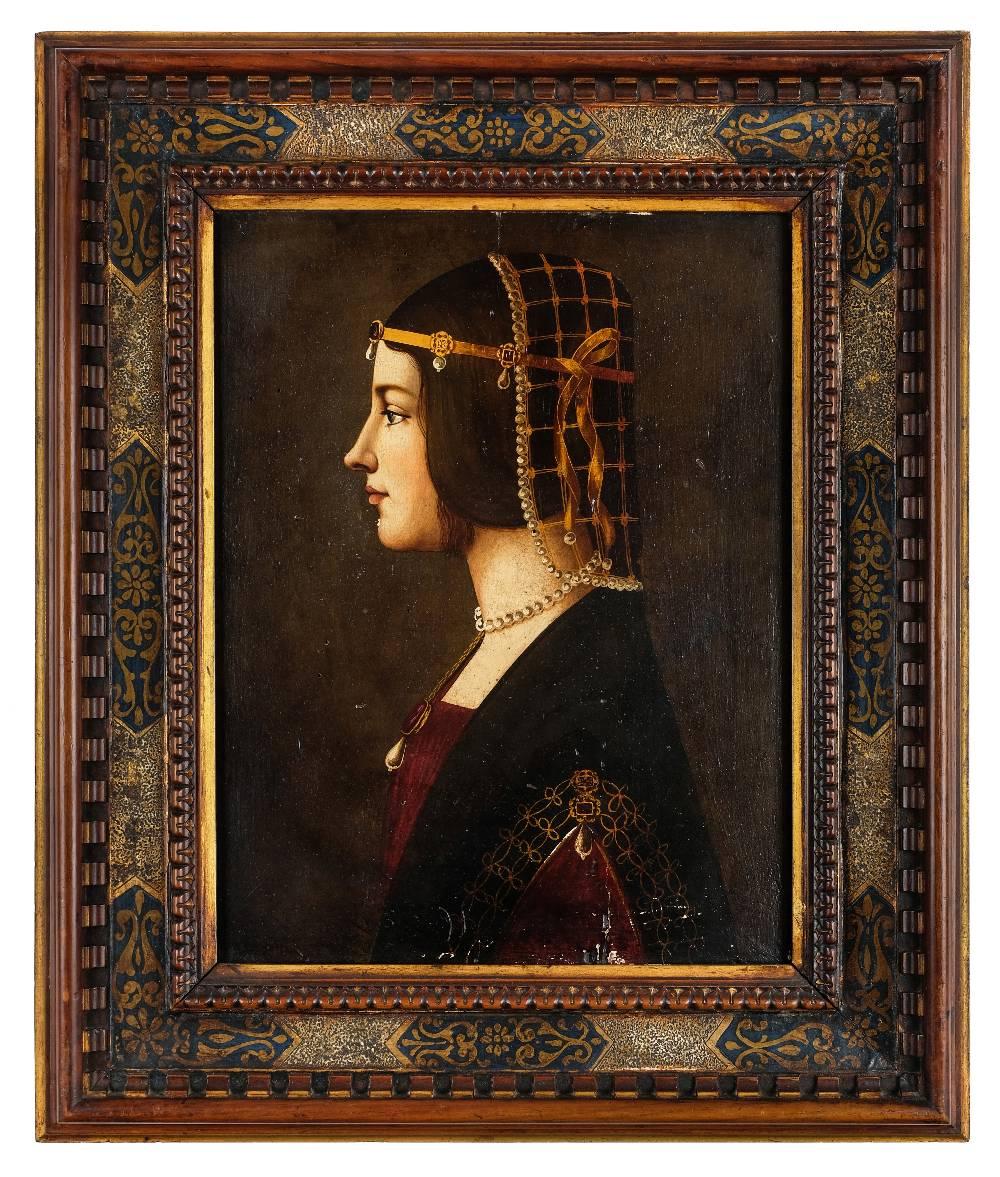 Lot 15 - *After Giovanni Ambrogio de Predis (circa 1455-1508). Portrait of Beatrice d'Este, 1490, 19th
