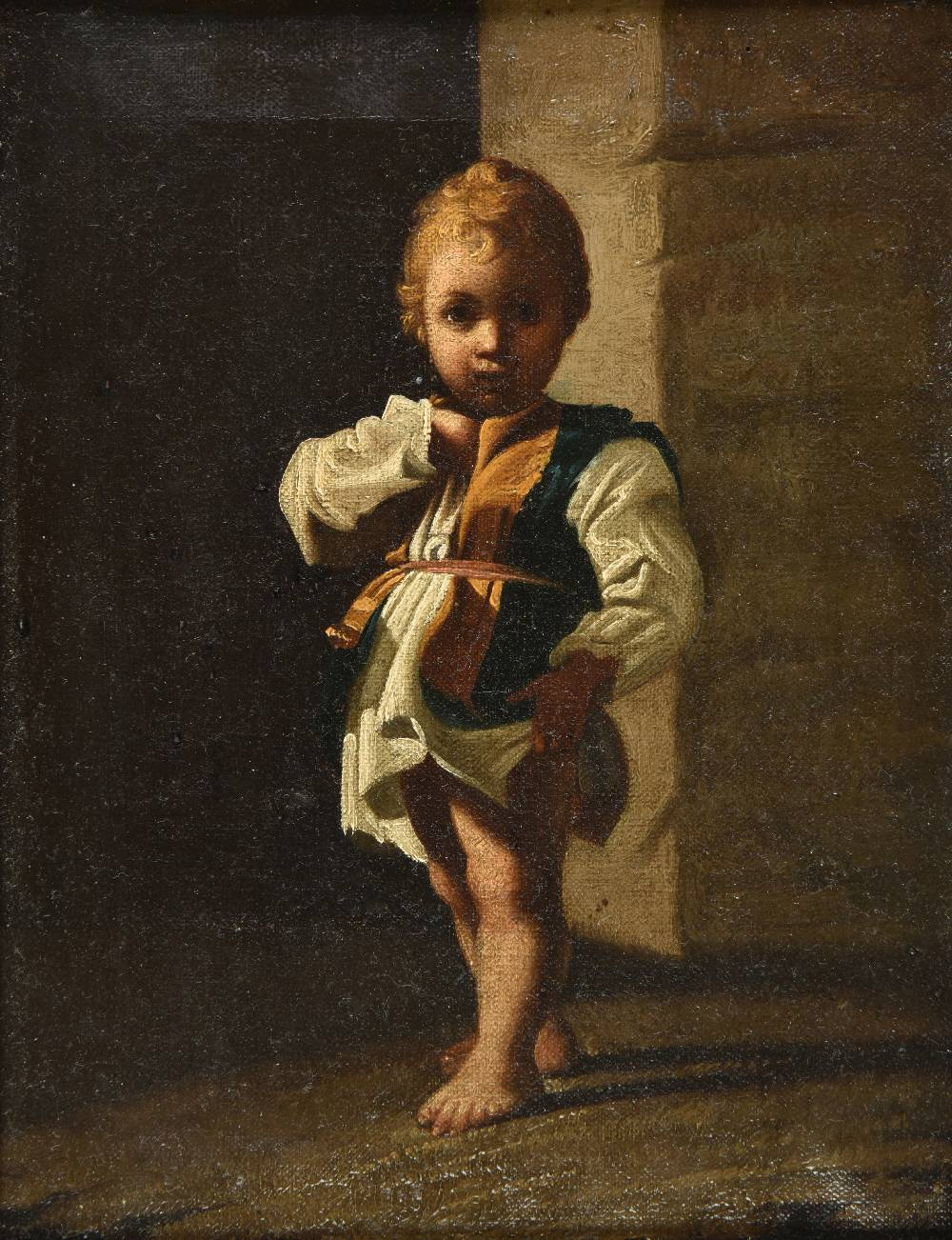 Lot 16 - *French School. Young Boy in an Interior, mid 18th century, oil on canvas, unsigned, indistinctly