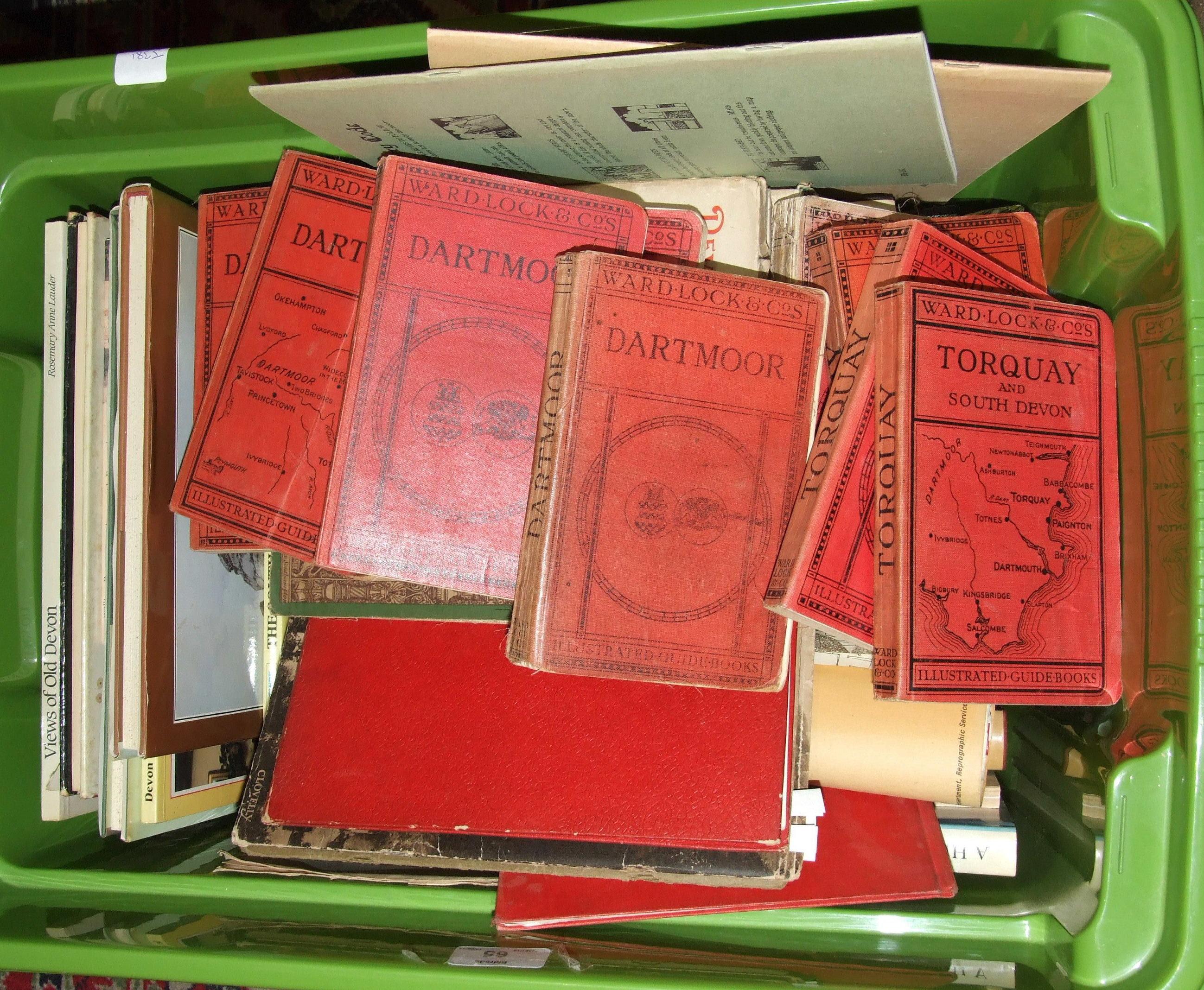 Lot 65 - A quantity of books on Dartmoor and Devon.